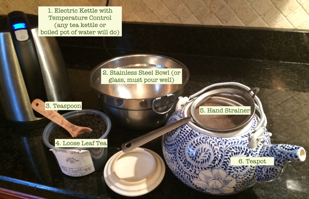 loose leaf tea brewing equipment