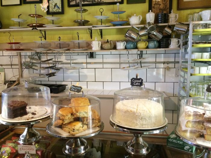 Walk-ins order the Caroline Tea at the counter, where you select your tea and quiche.