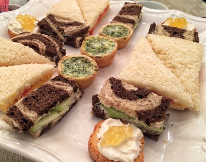 tea sandwiches at Urban Tea