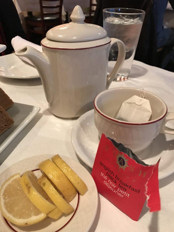 Tea service at Cafe Lapin