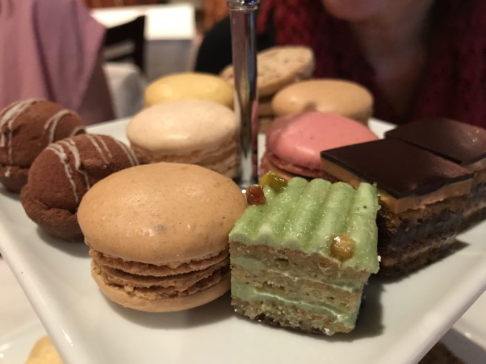 Dessert tray at Cafe Lapin afternoon tea