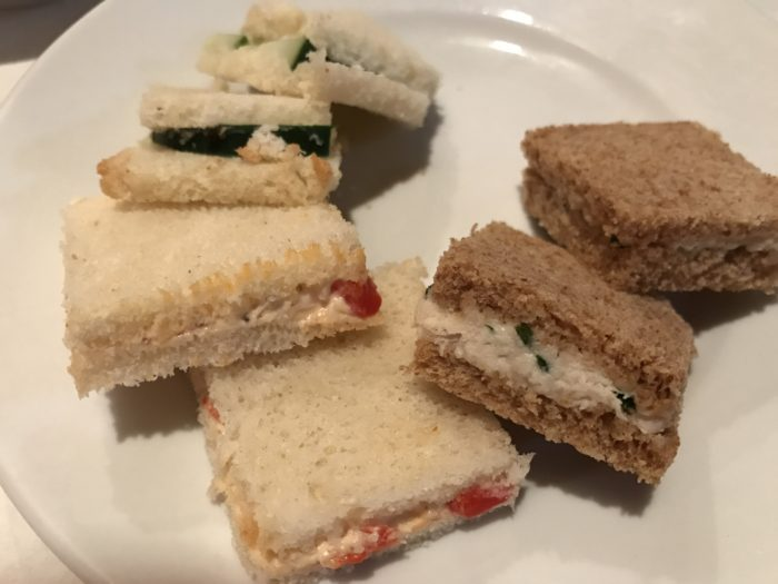 tea sandwiches at Cafe Lapin