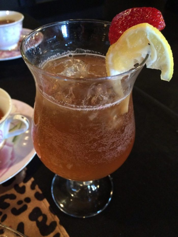 Iced tea at Three Southern Girls Tea Room
