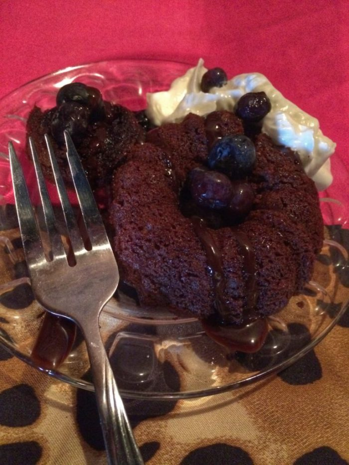Mini chocolate bundt cake at Three Southern Girls