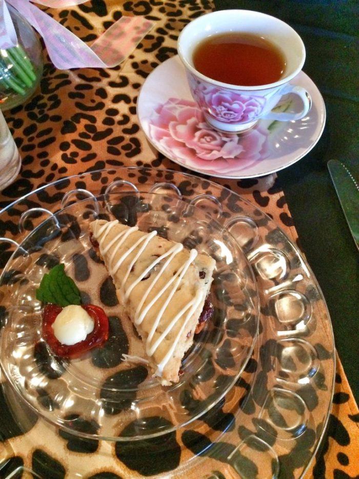 Pre-sweetened seasonal tea and scone