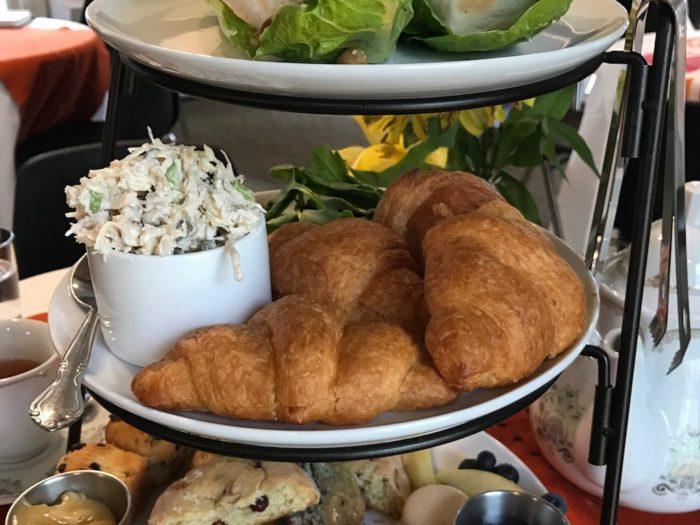 Chicken salad croissants at Just Add Honey afternoon tea