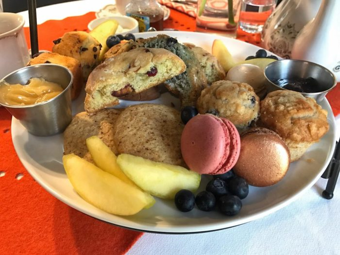 Scones and desserts at Just Add Honey afternoon tea