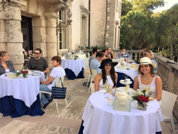 Vizcaya Museum's Cafe & Shop, where tea is served on the terrace, in Miami, FL.