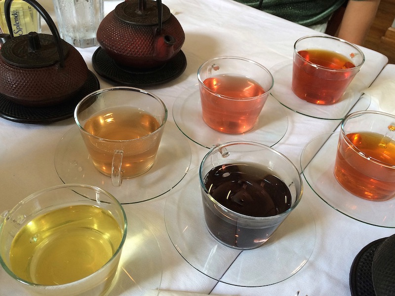 each tea has its own unique brew and color