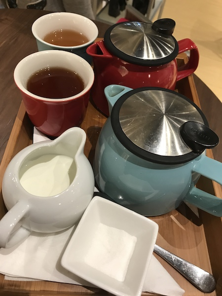 Individual teapots at Indigo Tea Lounge