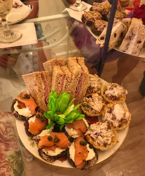 Tea sandwiches at Calabash Garden Tea Room
