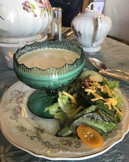 Soup and salad at Jessa's Tea Parlor in Woodstock, GA