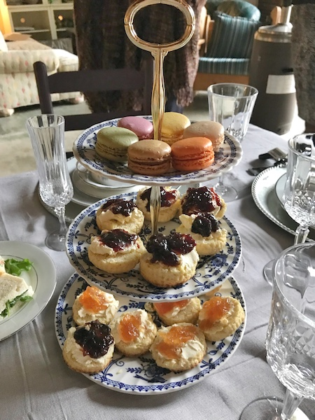 tea tray at Garden party afternoon tea