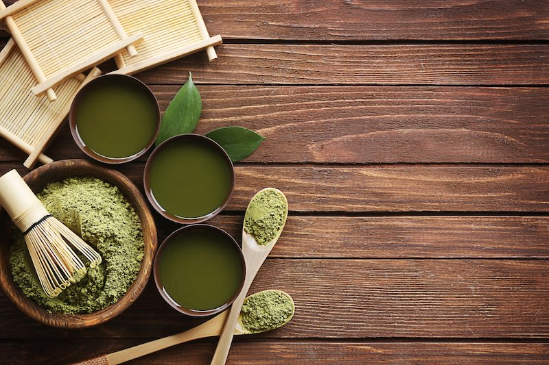 Japanese matcha green tea for ceremony