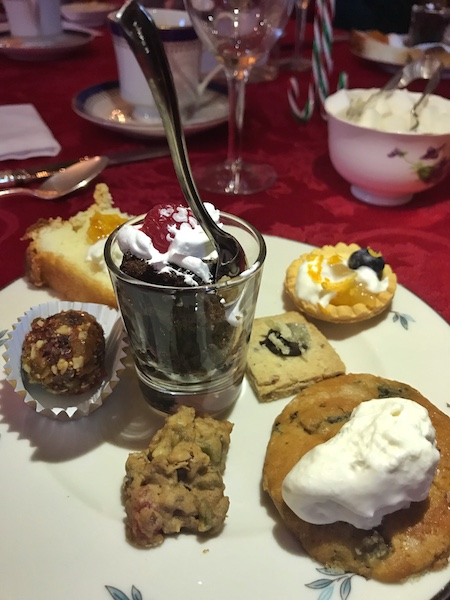 Desserts at Christmas Tea Bulloch Hall in Roswell, GA
