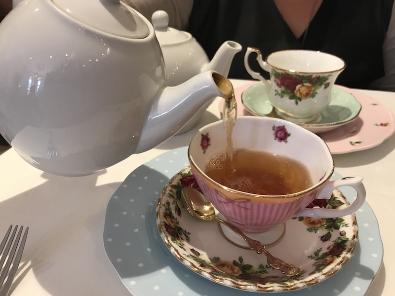 Tea is poured at Lady Camellia