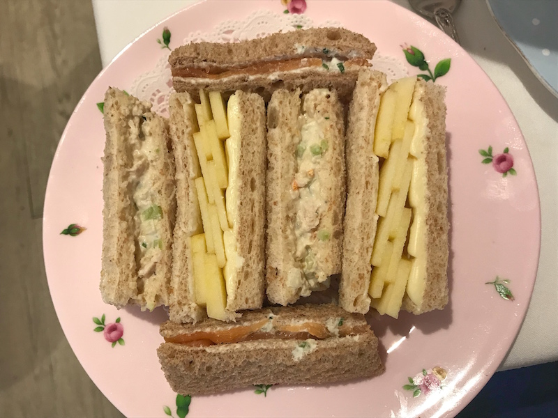 Tea sandwiches at Lady Camellia in DC