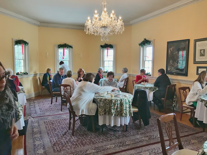 Tea room at Montpelier Mansion