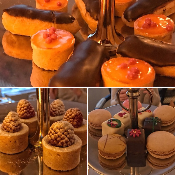 Desserts at afternoon tea at The Lowell, NYC