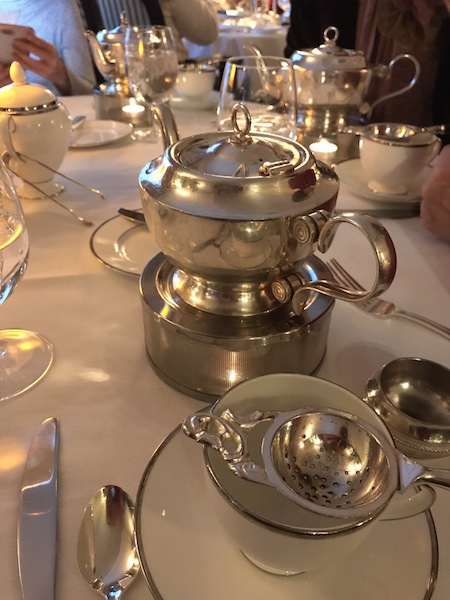 Tea service at The Lowell in NYC