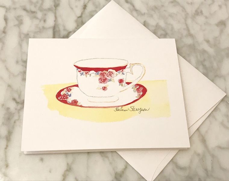 tea notecard from Joy Breedlove