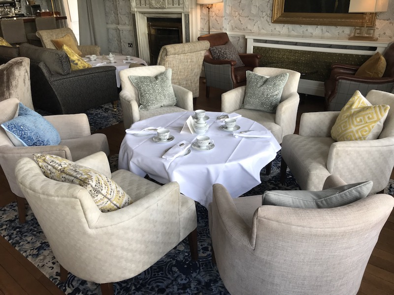 Afternoon tea is served in the Major's Bar at Mount Juliet Estate
