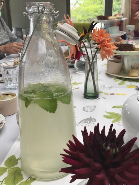 Homemade elderflower cordial at Springfield Castle's The Green Room