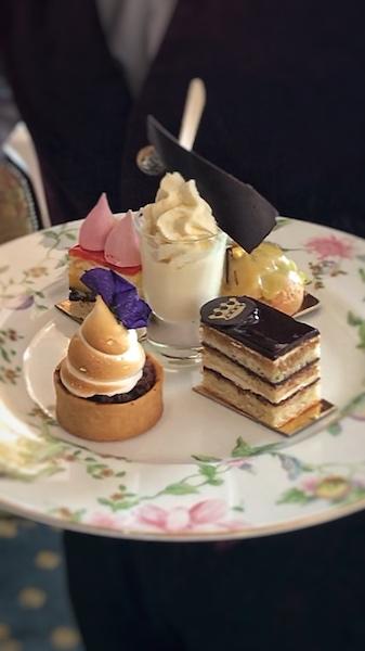afternoon tea desserts at Dromoland Castle
