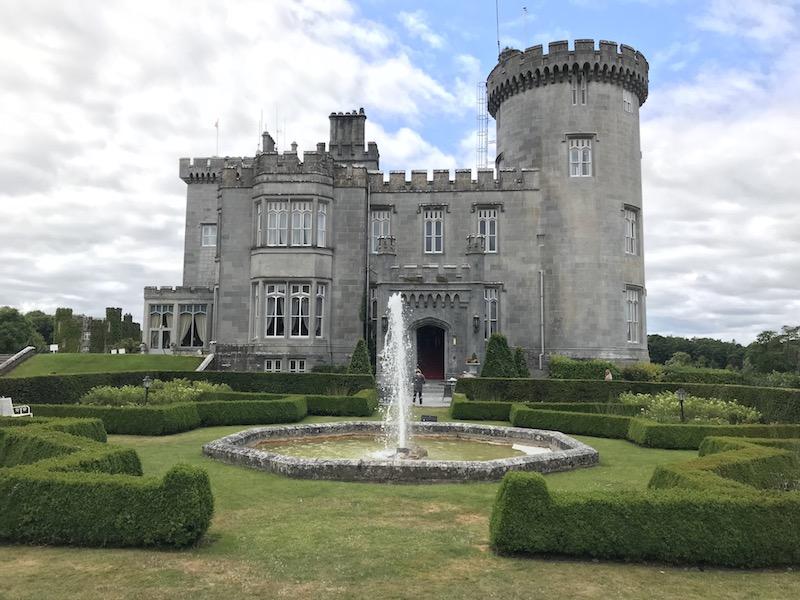 exterior Dromoland Castle in County Clare, Ireland
