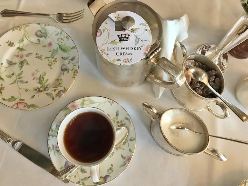 silver teaset at Dromoland Castle