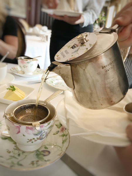 tea is poured at Dromoland Castle in County Clare, Ireland