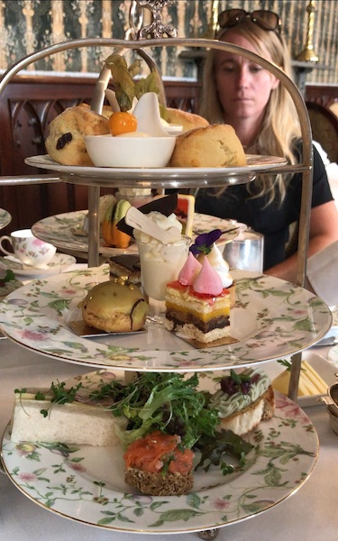 afternoon tea trays at Dromoland Castle in County Clare, Ireland