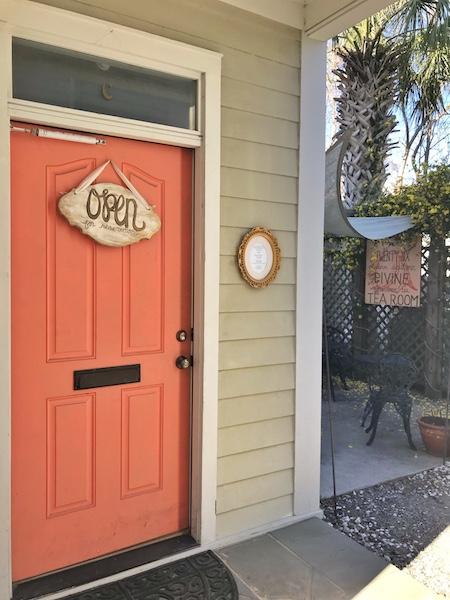 Rear entrance at twenty six divine in Charleston, SC