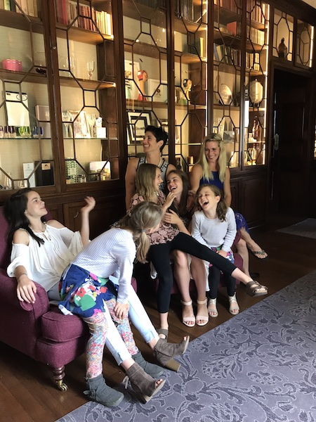 Family at Mount Juliet afternoon tea