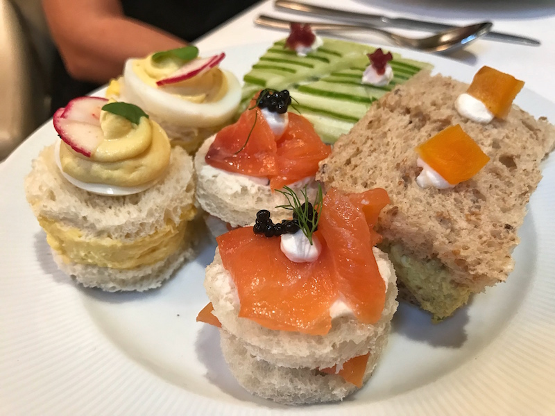Tea sandwiches at Mandarin Oriental Atlanta