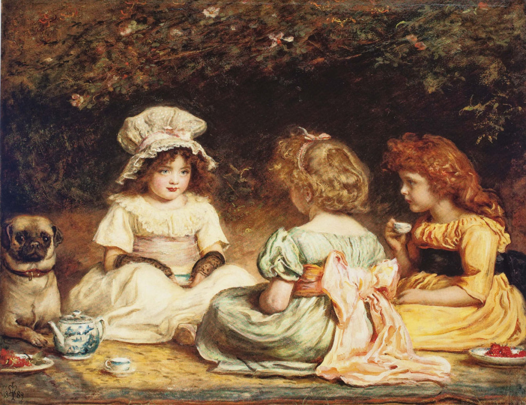 """Afternoon Tea (The Gossips)"" by John Everett Millais, 1889"