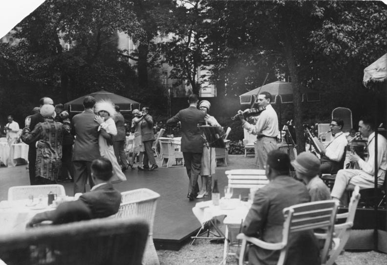 A jazz band at the tea dance in Hotel Esplanade Berlin, 1926