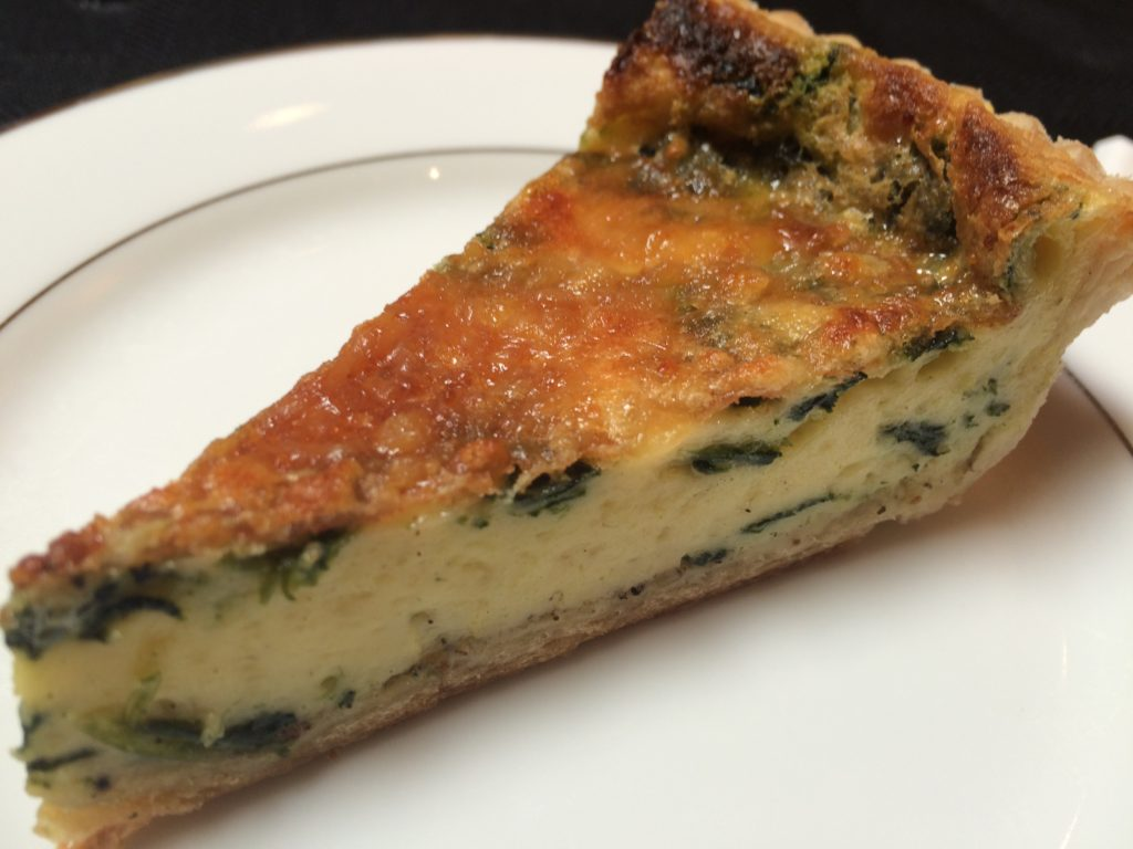 Made just down the street by Maison Robert, the spinach quiche was buttery and perfectly portioned