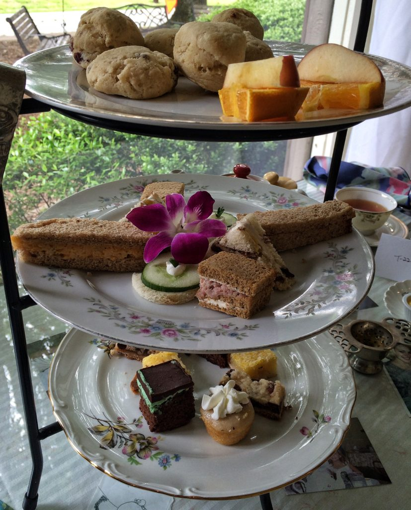 Afternoon Tea tray at Tea Leaves and Thyme