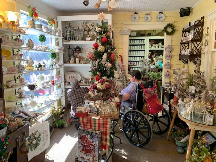 gift shop at Tea Leaves and Thyme in Woodstock, GA