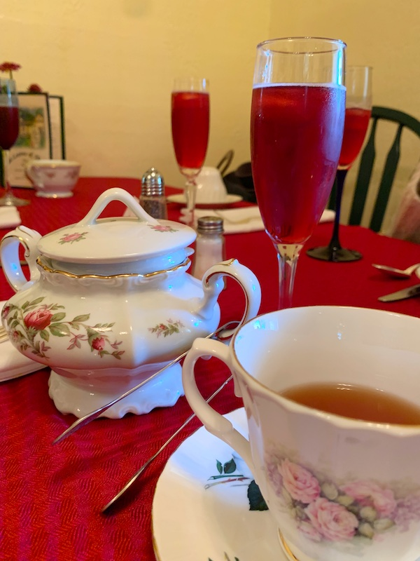 tea sparkler at Tea Leaves & Thyme afternoon tea