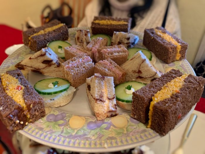 tea sandwiches at Tea Leaves & Thyme in Woodstock, GA