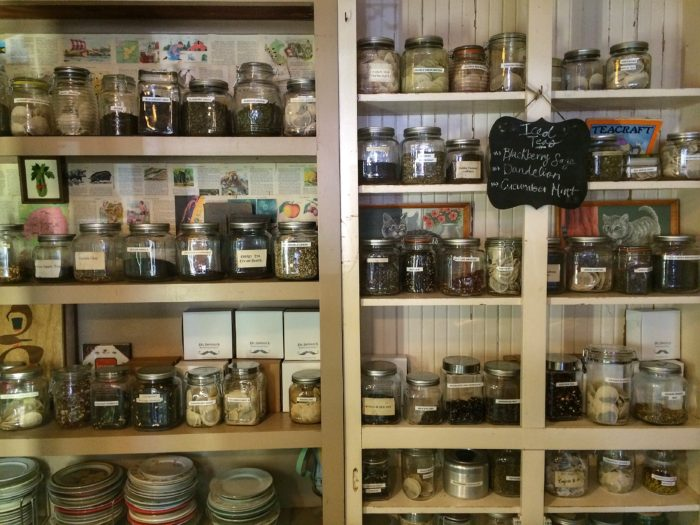 Loose leaf teas for sale at Dr. Bombay's in Candler Park