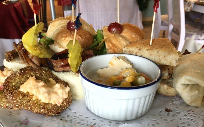 Southern Charm savories at Jessa's Tea Parlor