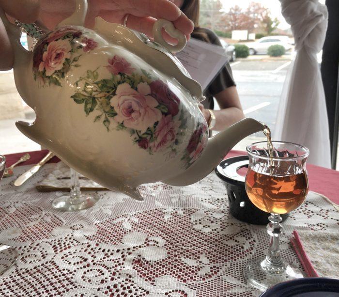Tea pouring at Jessa's Tea Parlor
