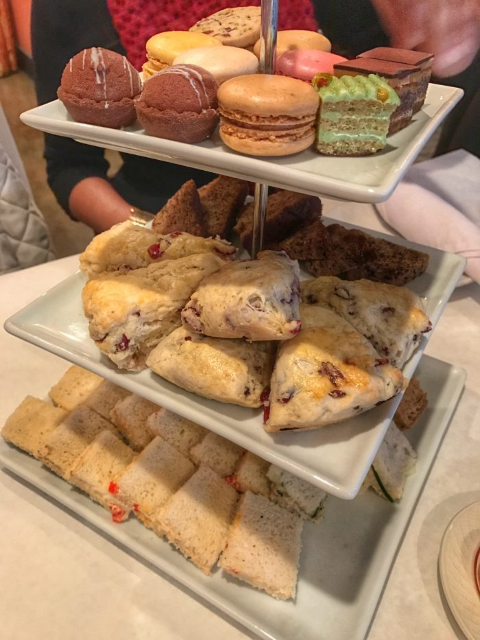 Afternoon tea curate at Cafe Lapin
