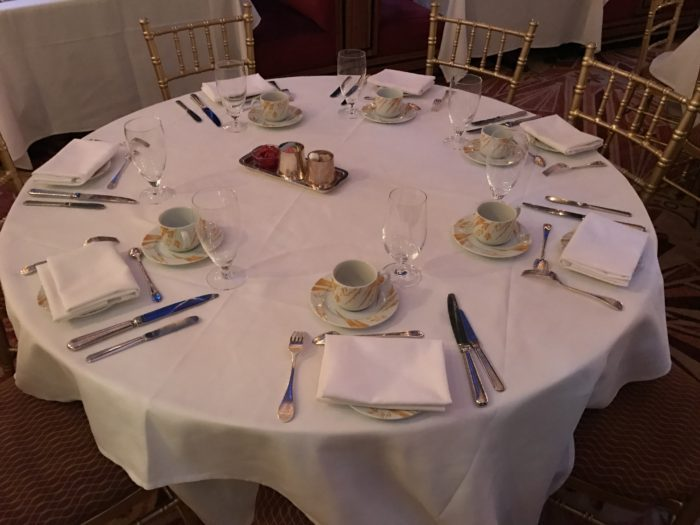 Table setting at Russian Tea Room