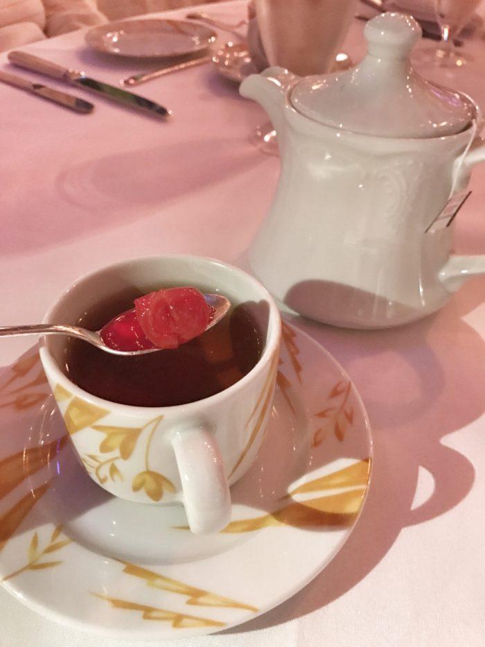 Sweetened cherries for tea at Russian Tea Room