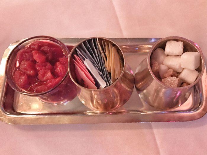 Sweetener tray at Russian Tea Room