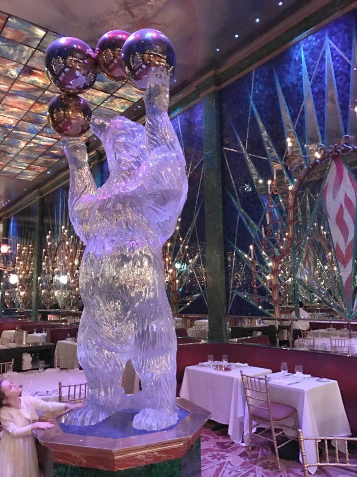 Bear aquarium at Russian Tea Room Bear Lounge